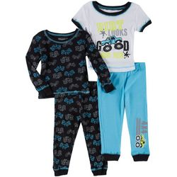 Boys Club Baby Boys 4-pc. Truck Pajama Set