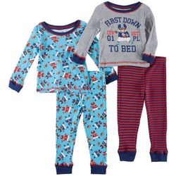 Boys Club Baby Boys 4-pc. First Down To Bed Pajama Pants Set