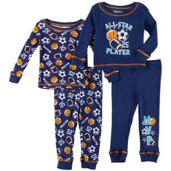 Boys Club Baby Boys 4-pc. All Star Pajama Pants Set