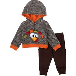 Baby Essentials Baby Boys 2-pc. Holiday Turkey Hoodie Set