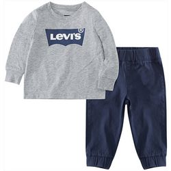 Levi's Baby Boys 2-pc. Batwing Logo Pants Set