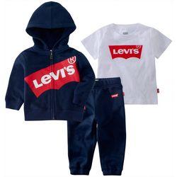 Levi's Baby Boys 3-pc. Logo Hoodie Set