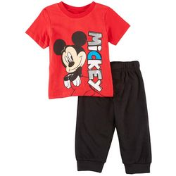 Disney Mickey Mouse Baby Boys Mickey Jogger Pants Set