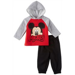 Disney Mickey Mouse Baby Boys Fleece Hoodie Pants Set