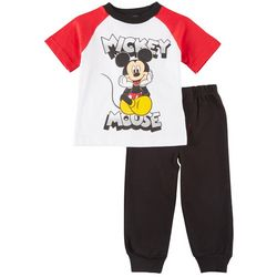 Disney Mickey Mouse Baby Boys Raglan Jogger Pants Set