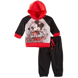 Disney Mickey Mouse Baby Boys Mesh Sweatshirt Set