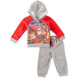 Disney The Incredibles Baby Boys Mesh Sweatshirt Set