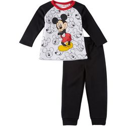 Disney Mickey Mouse Baby Boys Fleece Icon Pants Set