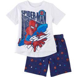 Spider-Man Baby Boys 2-pc. Screen Print Shorts Set