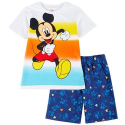 Disney Baby Boys 2-pc. Mickey Mouse Shorts Set