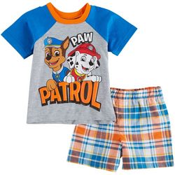 Nickelodeon Paw Patrol Baby Boys Plaid Shorts Set