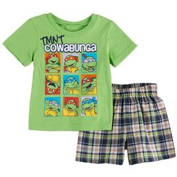 Teenage Mutant Ninja Turtles Baby Boys Plaid Shorts