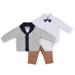 Little Lad Baby Boys 4-pc. Button-Down Cardigan Set