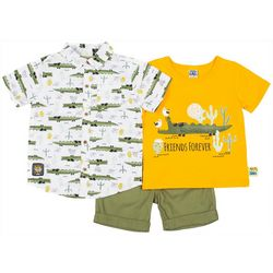 Little Lad Baby Boys 3-pc. Friends Forever Shorts Set