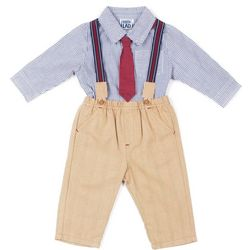 Boys Rock Baby Boys Suspender Pants Set