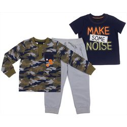 Boys Rock Baby Boys 3-pc. Make Some Noise Jogger Pants Set