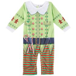 Faux Real Baby Boys Christmas Elf Romper