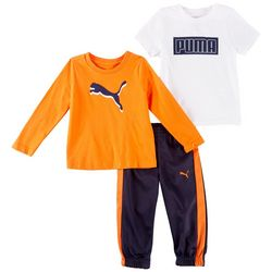 Puma Baby Boys 3-pc. Active Logo Pants Set