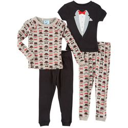 Quiltex Baby Boys 4-pc. Tuxedo Pajama Set