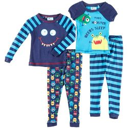 Quiltex Baby Boys 4-pc. This Monster Needs Sleep Pajama Set