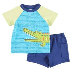 Sunshine Baby Baby Boys Alligator Shorts Set