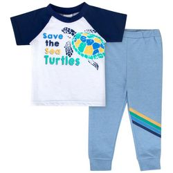 Sunshine Baby Baby Boys Save The Turtles T-Shirt Set