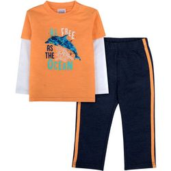 Sunshine Baby Baby Boys Free As The Ocean Top & Pants Set