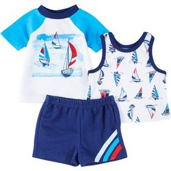 Sunshine Baby Baby Boys 3-pc. Boat Shorts Set