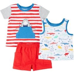 Sunshine Baby Baby Boys 3-pc. Shark Set