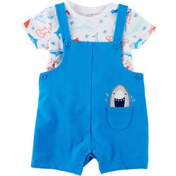 Sunshine Baby Baby Boys Shark Shortalls Set