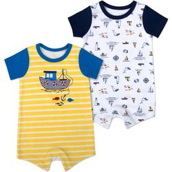 Sunshine Baby Baby Boys 2-pk. Boat Romper Set