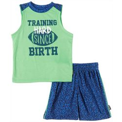 Spalding Baby Boys Training Hard Tank Shorts Set