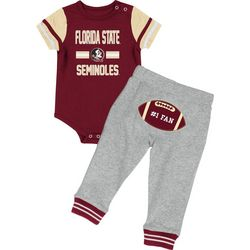 Florida State Baby Boys Football Bodysuit Set by Colosseum