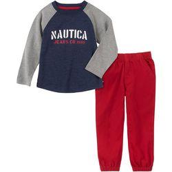 Nautica Baby Boys Raglan Tee & Jogger Pants Set
