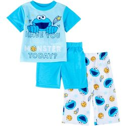 Sesame Street Baby Boys 3-pc. Cookie Monster pajama Set