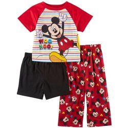 Disney Mickey Mouse Baby Boys 3-pc. Striped Sleep Set