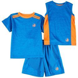 Body Glove Baby Boys 3-pc. Active Space Dye Shorts Set
