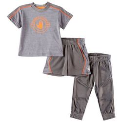 Body Glove Baby Boys 3-pc. Space Dye Active Pants Set