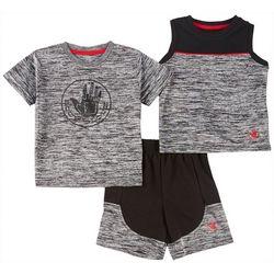 Body Glove Baby Boys 3-pc. Space Dye Logo Shorts Set