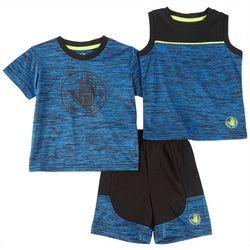 Body Glove Baby Boys 3-pc. Logo Active Shorts Set