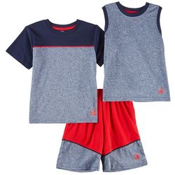 Body Glove Baby Boys 3-pc. Active Colorblock Shorts Set