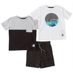 Body Glove Baby Boys 3-pc. Gone Surfing Shorts Set