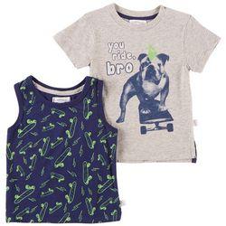 Flapdoodles Baby Boys 2-pk. Skateboard Tank & T-Shirt Set