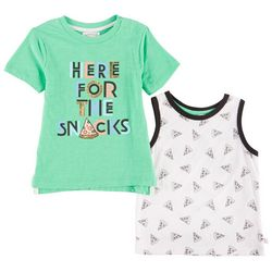 Flapdoodles Baby Boys 2-pk. Here For The Snacks Tops Set