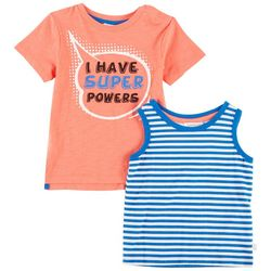 Flapdoodles Baby Boys 2-pk. I Have Superpowers Tops