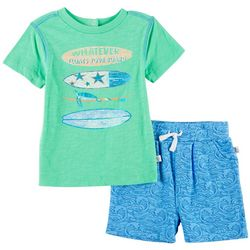 Flapdoodles Baby Boys Floats Your Boat Wave Shorts Set