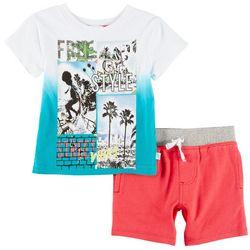 Flapdoodles Baby Boys Free Style Street Vibes Shorts Set