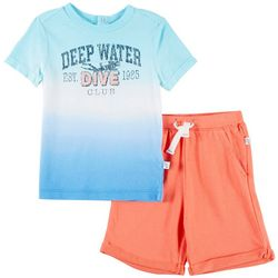 Flapdoodles Baby Boys Deep Water Dive Club Shorts Set