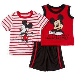 Disney Mickey Mouse Baby Boys 3-pc. Striped Mickey Set