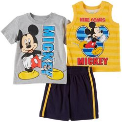 Disney Mickey Mouse Baby Boys 3-pc. Here Comes Mickey Set